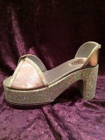 Lilac shoe jewellery box NEW