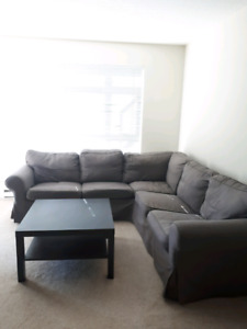 Ikea Ektorp Sectional Couch Grey