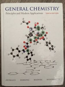 General Chemistry Petrucci Textbook with online access code