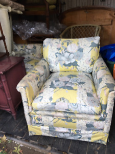 Quality Upholstered Chairs, Vintage Coffee Table(s),Chandelier