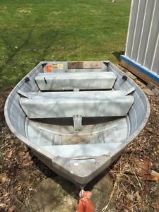 Gruman 10ft Aluminum Boat and 2 Motors for sale