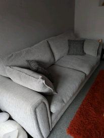 Luca 4 Seater grey sofa