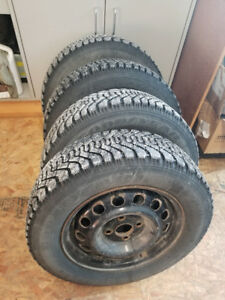 LIKE NEW GOODYEAR WINTER RIMS/TIRES, 2months old 185/65/14