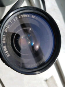 Sigma Wide Angle 28mm lens f2.8 (Minolta fit) Macro