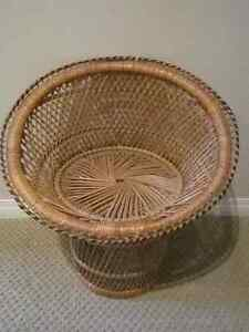 Vintage Large 21'' Tall Woven Wicker Doll Chair
