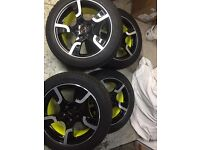 """T5 - T6 VW transporter alloy wheels x4 sportline 18"""" kumho winter tyres"""