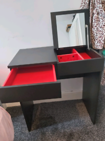 Ikea desk dressing table with mirror