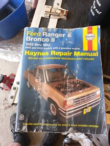 Haynes Ford Ranger & Bronco II repair manual