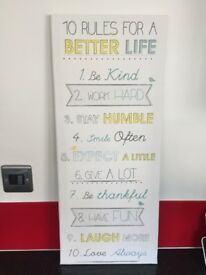 Canvas 10 Rules for a better Life