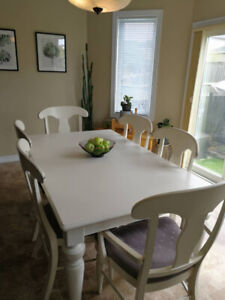 Large Wooden Dining Table Set