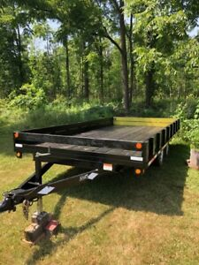 2008 8 x 16 miska deck over trailer