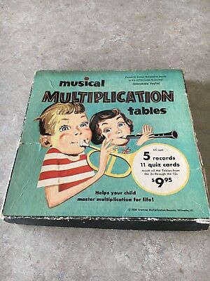 Bremmer Musical Multiplication Tables 1956 Set Incomplete Please Read