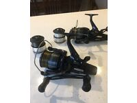 Shimano dl6000 ra baitrunner reel with line and spare spool