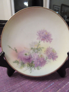 Gorgeous Antique Hand Painted Royal Rudostadt Plate Prussia