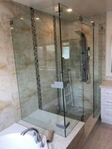 10mm shower glass with good deal for install~