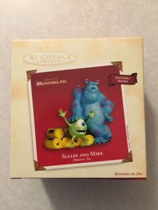 """MONSTERS, INC. """"Sulley And Mike"""" Hallmark Ornament (2002)"""