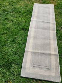 Laura Ashley grey hall runner rug
