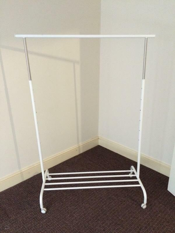 ikea clothes rail temporary wardrobe in banbury. Black Bedroom Furniture Sets. Home Design Ideas