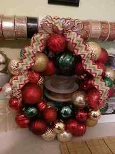 Christmas bulb wreaths