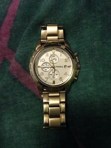 REAL GOLD FOSSIL WATCH