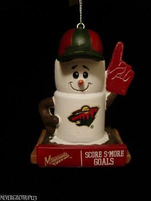 Nhl Minnesota Wild Team Logo Christmas Ornament Score Smore Goals Nwt