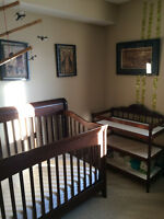 College Woodwork Convertible Crib and change table for sale