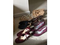 Ladies shoes, wedges, heels & sandals size 5 and 6