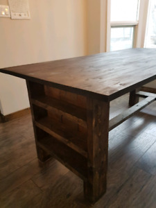 Butcher block farm table