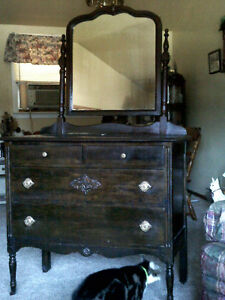 furniture, antique dresser and wash stand