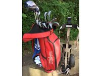 PETER ALLIS full set of clubs with bag trolley and balls