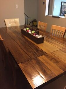 Solid Maple Harvest Dining Table
