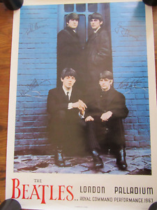 Large colored Beatles poster