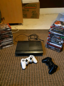 Ps3 with 41 games and 2 controllers 465gb