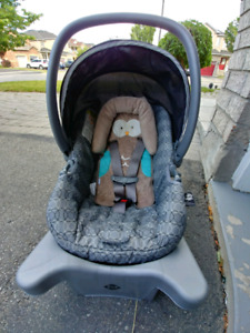 Infant car seat and click it stroller + free weather shield.