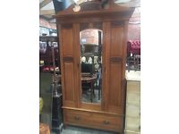 Beautiful Vintage Mirrrored Wardrobe with Drawer - UK Delivery