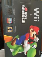 Wii system with Super Mario Bros game - combo
