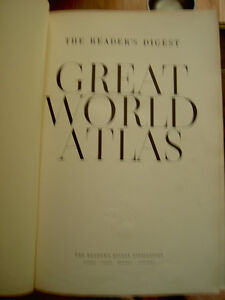 The Reader's Digest Great World Atlas First Edition Revised 1962 West Island Greater Montréal image 2