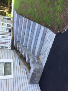 WALKWAYS, RETAINING WALLS, STEPS, PATIOS - STONEWORK