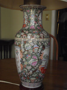 ***GORGEOUS HAND PAINTED OLD CHINESE LAMP***