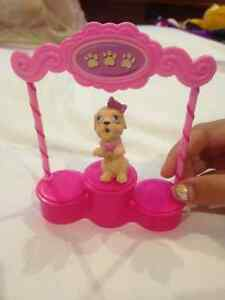 Barbie dog and stand