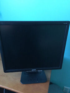 """2 x Acer 1706a 17"""" LCD monitors - $40 each"""