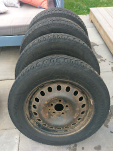 Used 225/65/17 Studded Winter Tires on rims