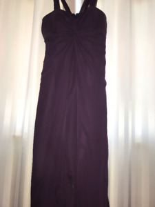 Eggplant Chiffon Bridesmaid Dress Size 18