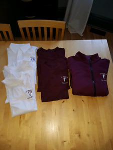 St. Ignatius school uniform shirts and sweatshirt, medium