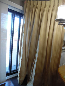 CURTAINS X 2 USED AS SIDE PANELS
