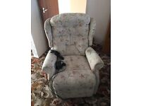 Remote controlled electric upholstered chair