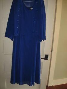 """Ursula of Switzerland"" Formal/Holiday MOB dress royal bluish."
