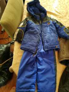 Snowsuit and vests size 24mth and 2t boys