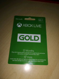 1 year xbox live gold