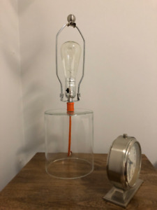 Industrial style glass lamp